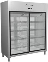 Холодильный шкаф со стеклянными дверцами Carboma R1400К (купе)
