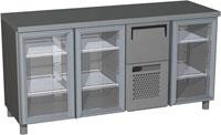 Холодильный стол с прозрачными дверцами Carboma BAR-360C