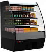 Пристенная холодильная горка Carboma 1600/875 ВХСп-1,9 (тонированный cтеклопакет)