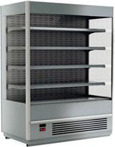 Пристенная холодильная горка Carboma Cube 1930/710 ВХСп-1,9 INOX