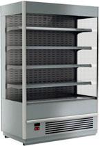 Пристенная холодильная горка Carboma Cube 1930/875 ВХСп-1,3 INOX