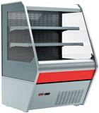 Пристенная холодильная витрина Carboma 1260/700 ВХСп-1,0 Britany F13-07 (стеклопакет)
