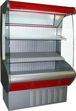 Пристенная холодильная витрина Carboma ВХСп-1,3 фруктовая